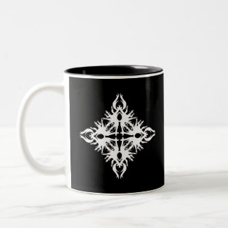 Abstract Design in White. Mugs