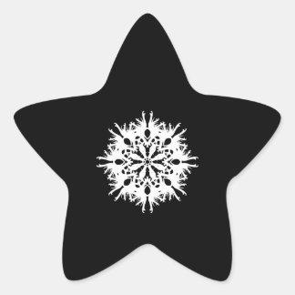 Abstract Design in White. Star Sticker