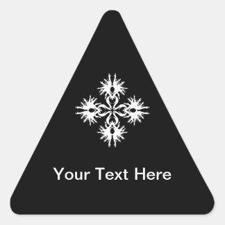 Abstract Design in White Triangle Sticker