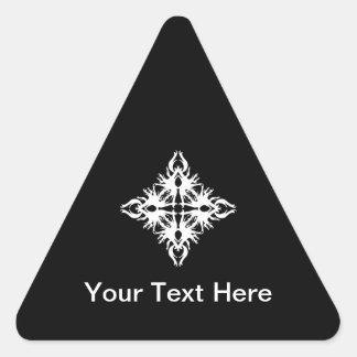 Abstract Design in White. Triangle Sticker