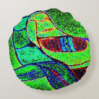 ABSTRACT DESIGN- MAYAN MONKEY SPIRIT ROUND PILLOW