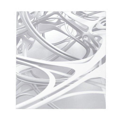 abstract design memo notepad