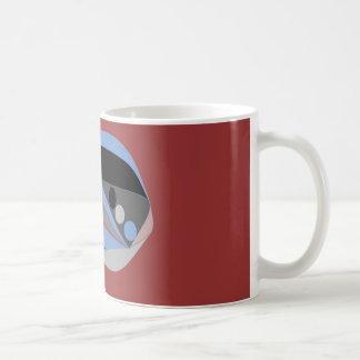 Abstract design mostly blue black and grey mug