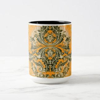 Abstract-Design_Orange-Supreme (c)__Unisex Two-Tone Coffee Mug
