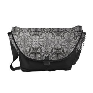 abstract design pattern fractal messenger bag