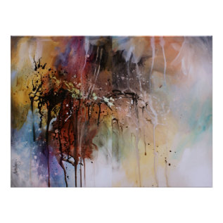 Abstract Design Poster at Zazzle
