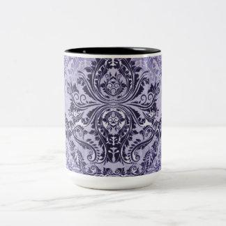 Abstract-Design_Purple_Majesty (c)__Unisex Two-Tone Coffee Mug