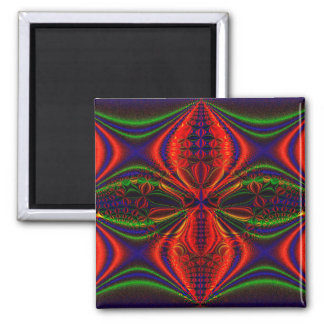 Abstract Design Red Green And Blue Design Magnet