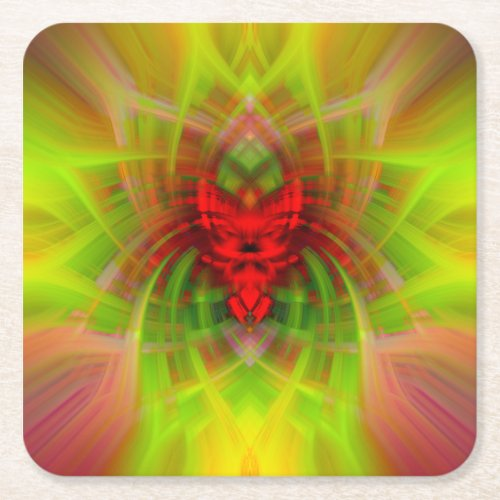 Abstract design square paper coaster