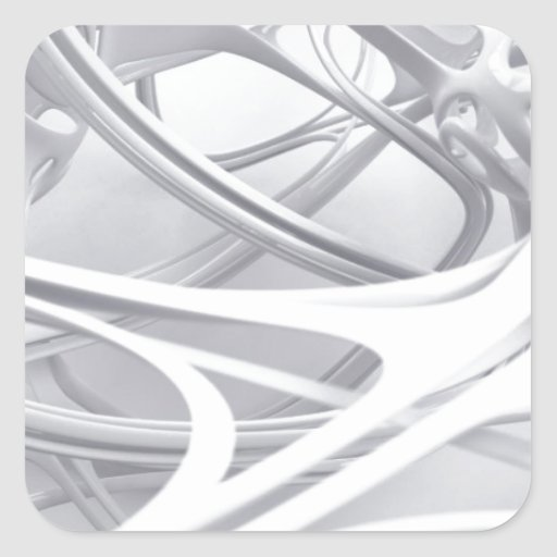 abstract design square sticker