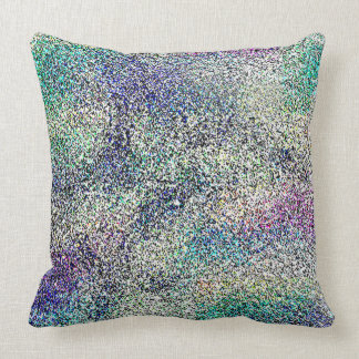 ABSTRACT DESIGN- SWIMMING DOLPHINS THROW PILLOW