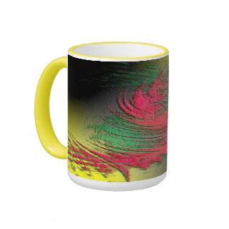 Abstract Design Tea Mug Ringer Mug