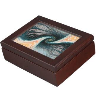 abstract design waves memory box