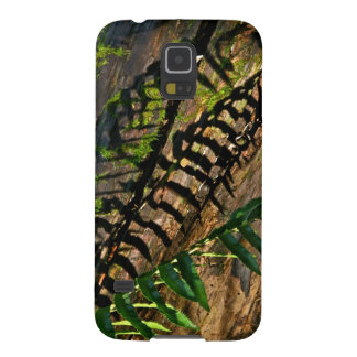 ABSTRACT DESIGN WITH FERNS AND SHADOWS GALAXY S5 COVER