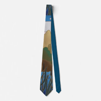 abstract design with outlined colors quirky neck tie