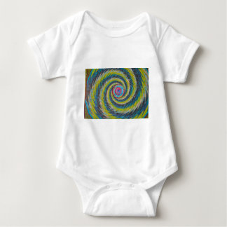 Abstract Design Yellow Blue Whirlwind Baby Bodysuit