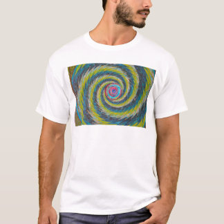 Abstract Design Yellow Blue Whirlwind T-Shirt