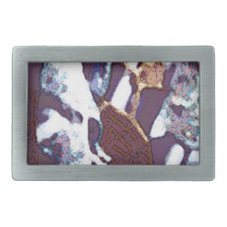 abstract designed product rectangular belt buckle