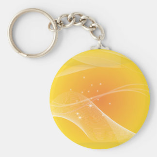 Abstract Designs Basic Round Button Keychain