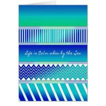 Abstract Designs in Aqua Blues - Life is Calm/SEA