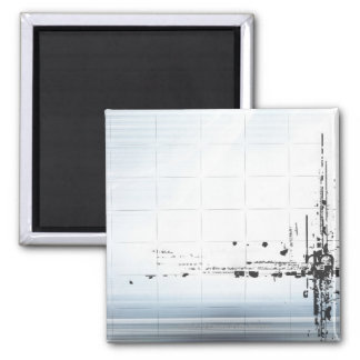 Abstract designs on grid 2 inch square magnet