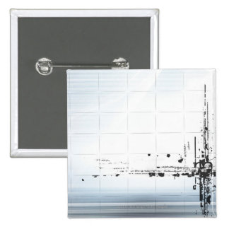 Abstract designs on grid 2 inch square button
