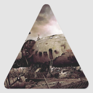 Abstract Destruction Back To Basics Triangle Sticker