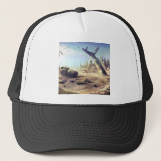 Abstract Destruction Lost Fortune Copter Trucker Hat