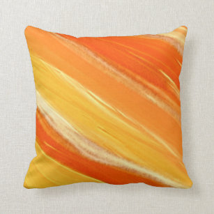 Orange And Yellow Stripes Pillows Decorative Throw Pillows Zazzle