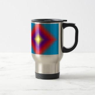 Abstract Diamond Design Travel Mug