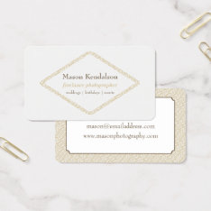 Abstract Diamond Freelance Photographer Business Card at Zazzle