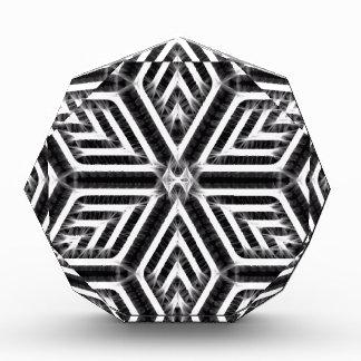 Abstract Diamond Pattern Acrylic Award