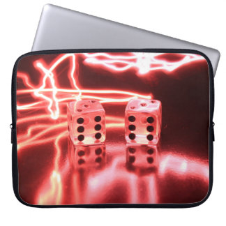 Abstract Dice 3 Laptop Sleeves