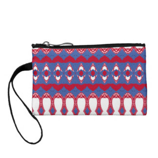 Abstract different pattern change purse