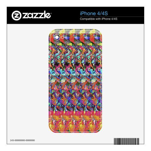 Abstract Digital Art 1 iPhone 4S Decals