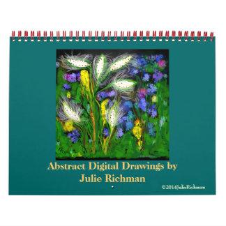 Abstract Digital Art by Julie Richman Calendar