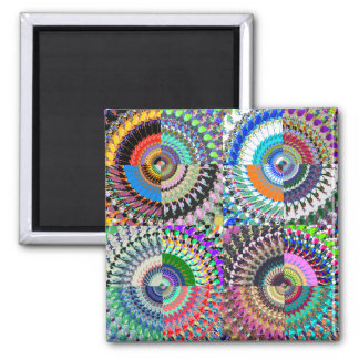 Abstract Digital Art Collage Magnet
