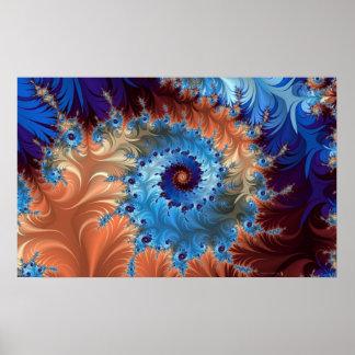 Abstract Digital Art - Dizzy Swirls Poster