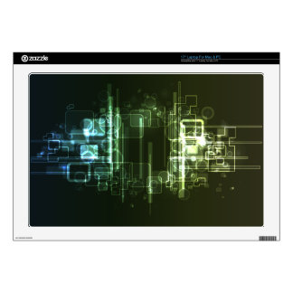 """Abstract Digital Background Skins For 17"""" Laptops"""