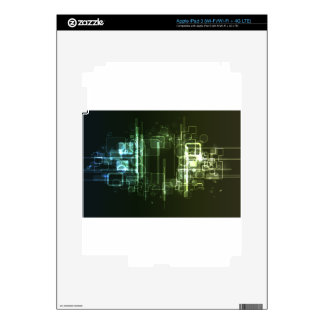 Abstract Digital Background Skins For iPad 3
