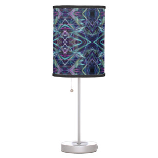 Abstract Digital Blue Lampshade Table Lamps