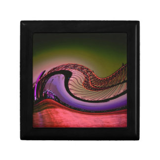 Abstract digital design, Waves and twirls Keepsake Box