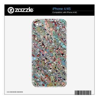 Abstract Digital Doodle Decal For The iPhone 4S