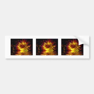 Abstract digital fire bumper sticker