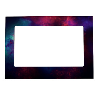 Abstract Digital Galaxy Magnetic Photo Frame