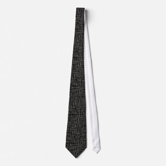Abstract Digital Hash Mark Black Tie