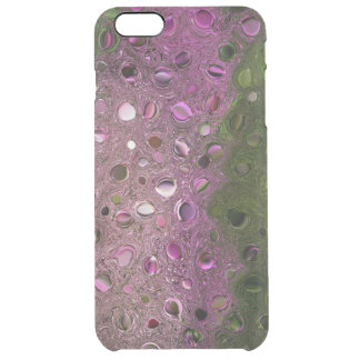 ABSTRACT/DIGITAL MANIP/MAGENTA&GREEN/PEBBLE-LIKE CLEAR iPhone 6 PLUS CASE