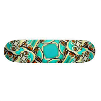 Abstract Digital Ornament Skateboard