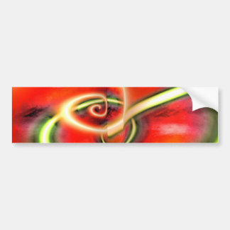 Abstract Digital Painting Bumper Sticker