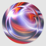 Abstract Digital Painting Classic Round Sticker